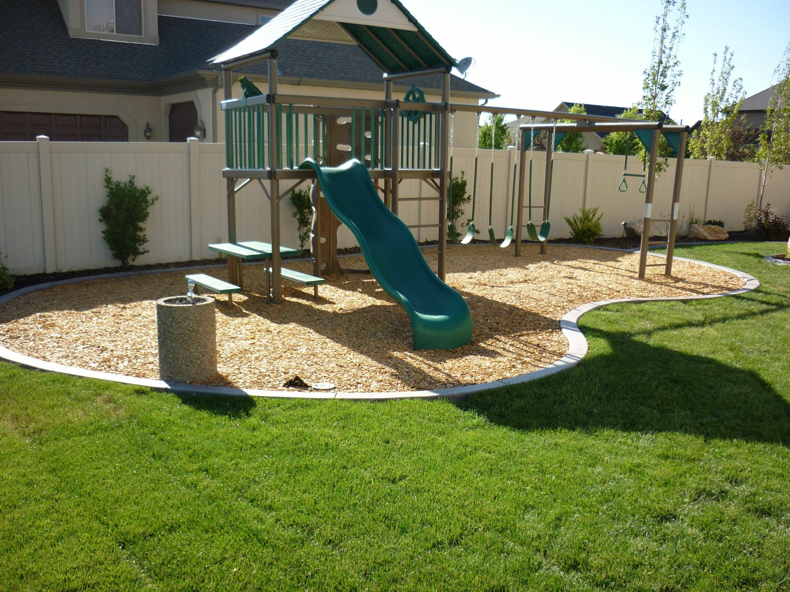 Spaces Patio Backyard Kid Friendly Landscaping Ideas Design And ...
