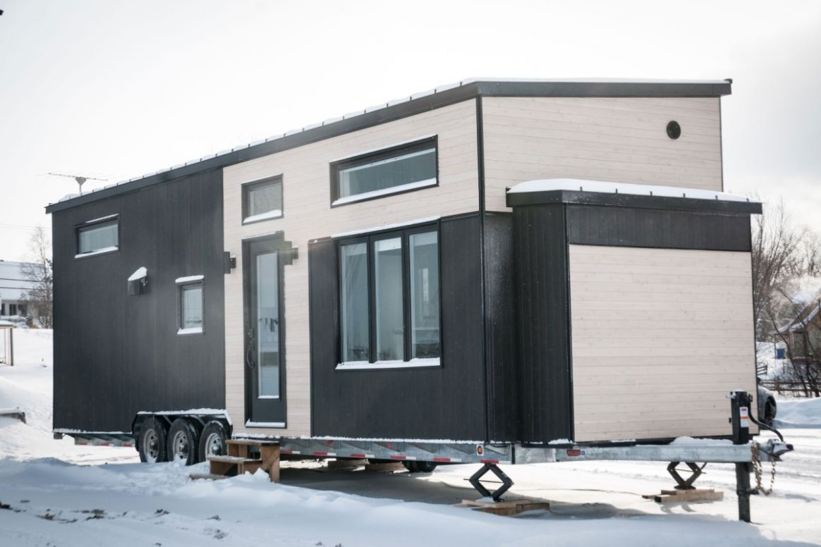 Spacious tiny house built to withstand Canadian winter chill - tiny house quebec for sale