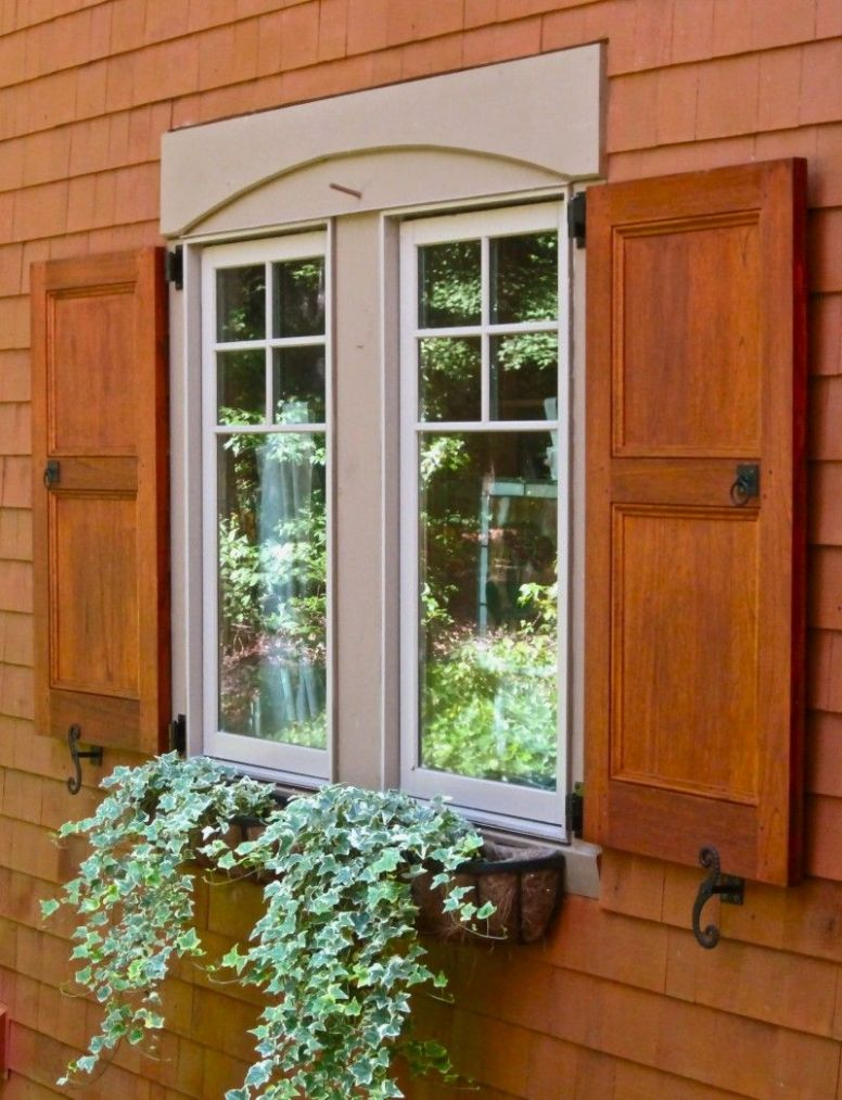Stained Flat Panel Exterior shutters - except they really need to ..