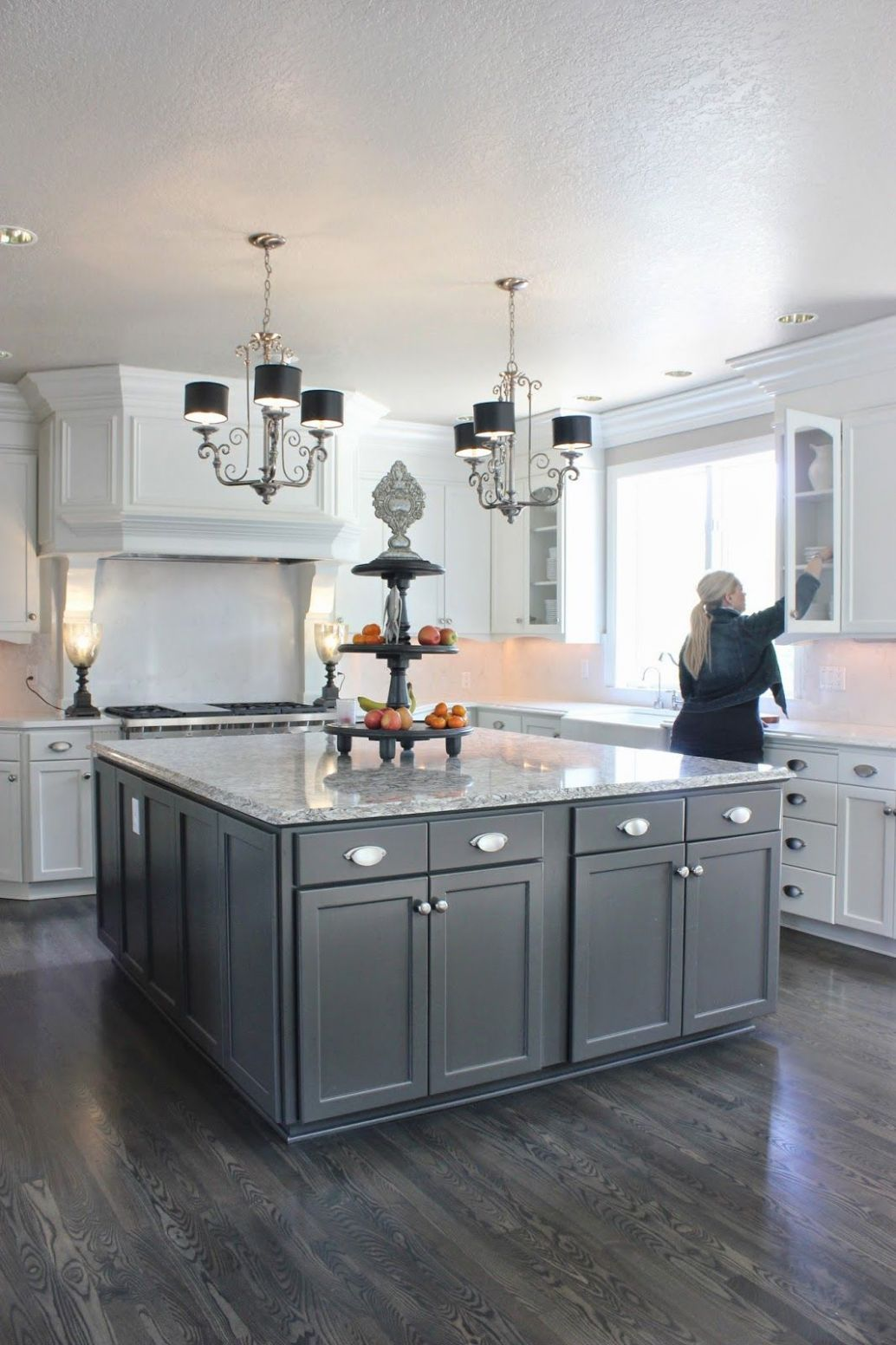 Staining hardwood floors gray (With images) | Kitchen design, Home ..