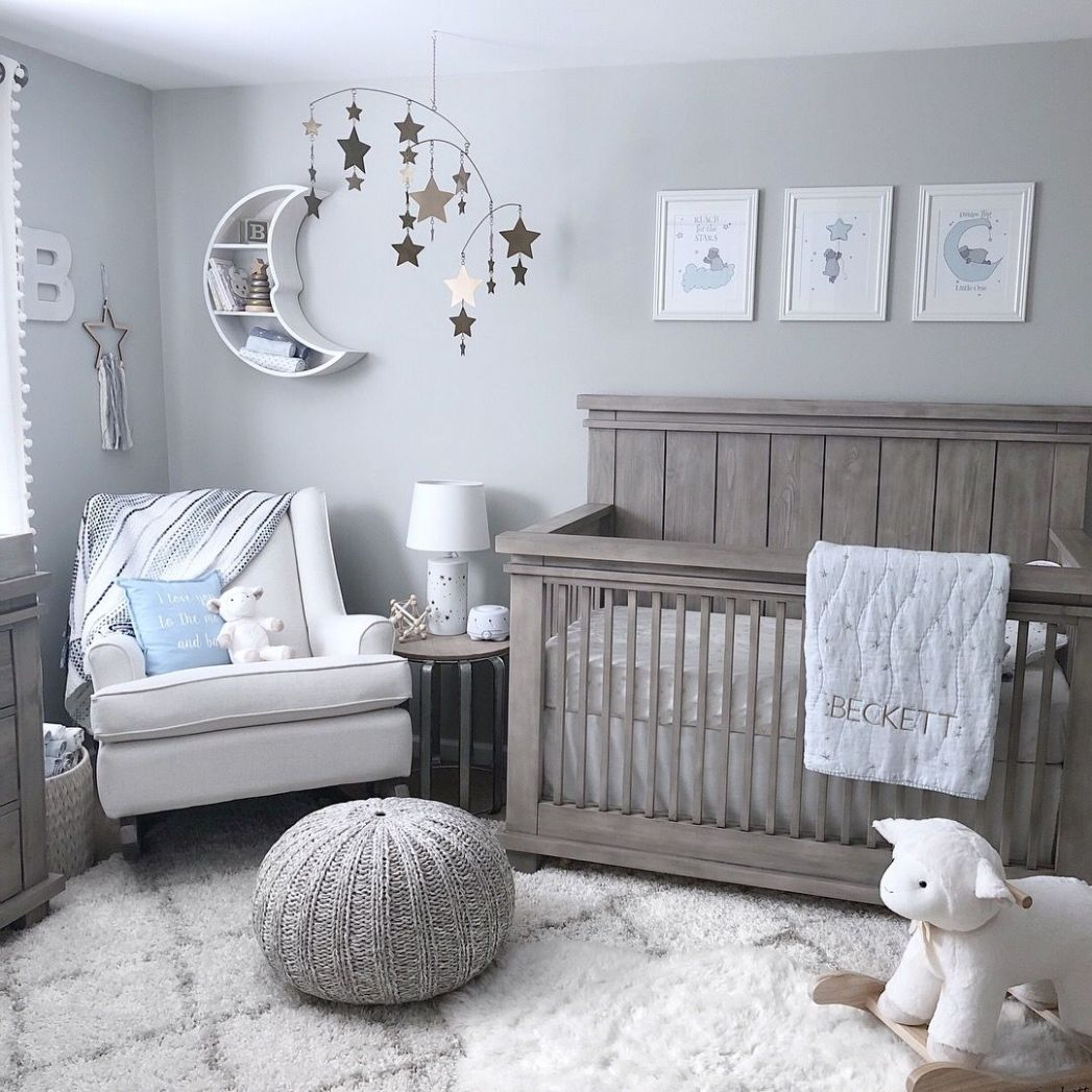 Star and moon nursery (With images) | Baby boy room nursery ...