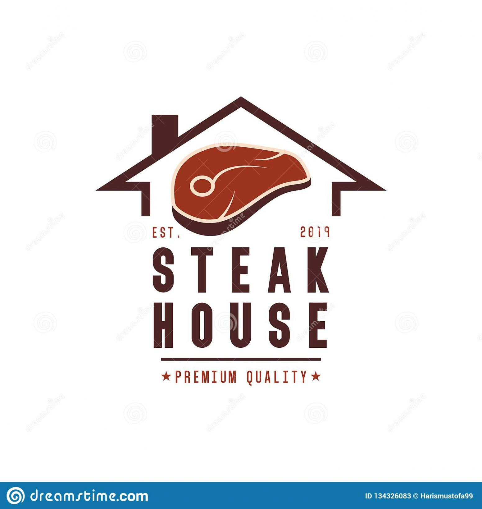 Steak House Logo Design Inspiration Stock Vector - Illustration of ..