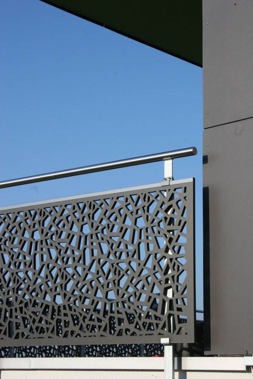 Steel Grill Balcony Fences Balconies And Screens Wrought Iron ..