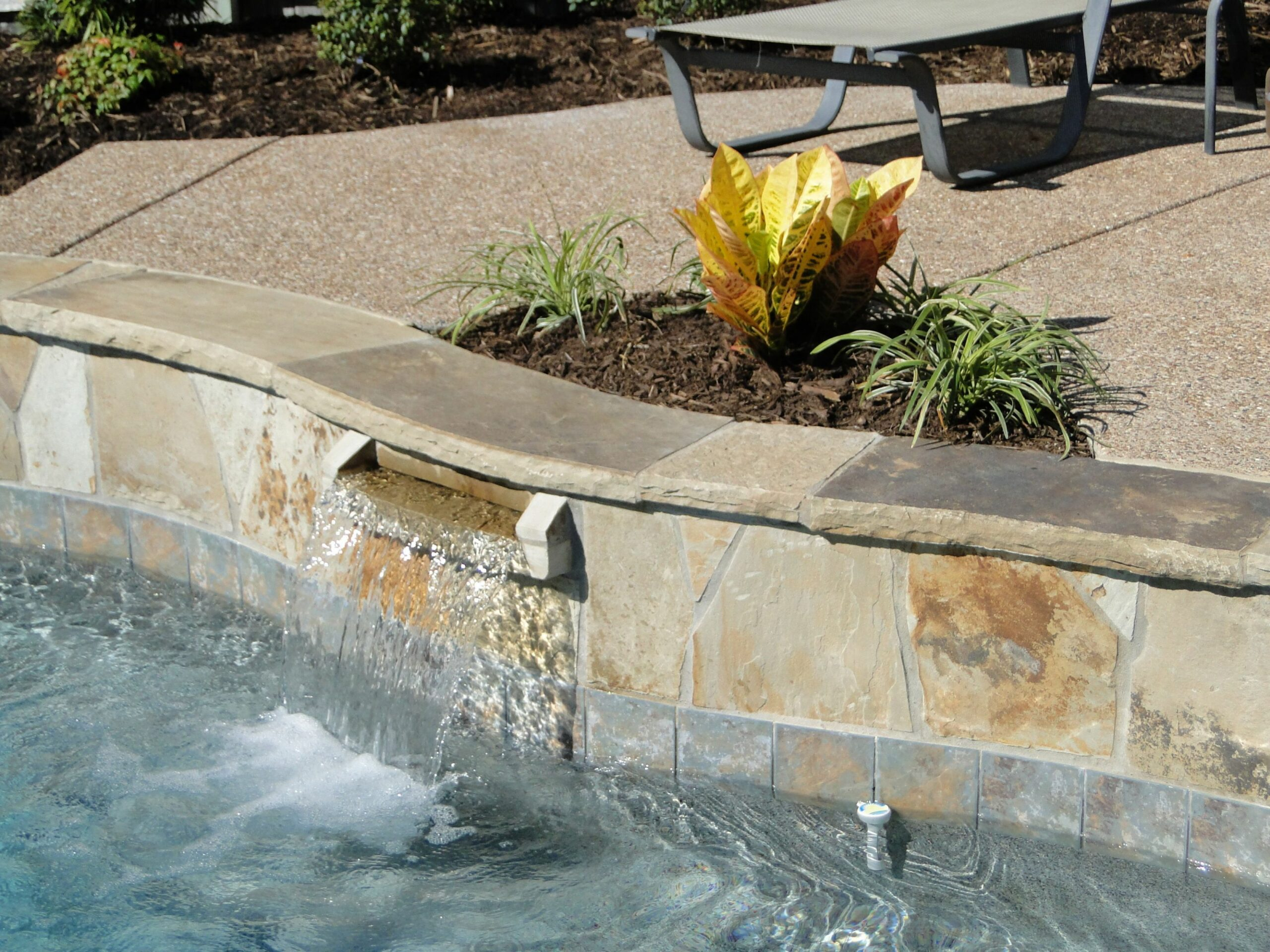 Stone scupper | Pool designs, Spa pool, Outdoor - pool ideas stone