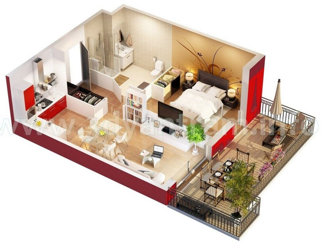 Studio Apartment Floor Plans - apartment design planner
