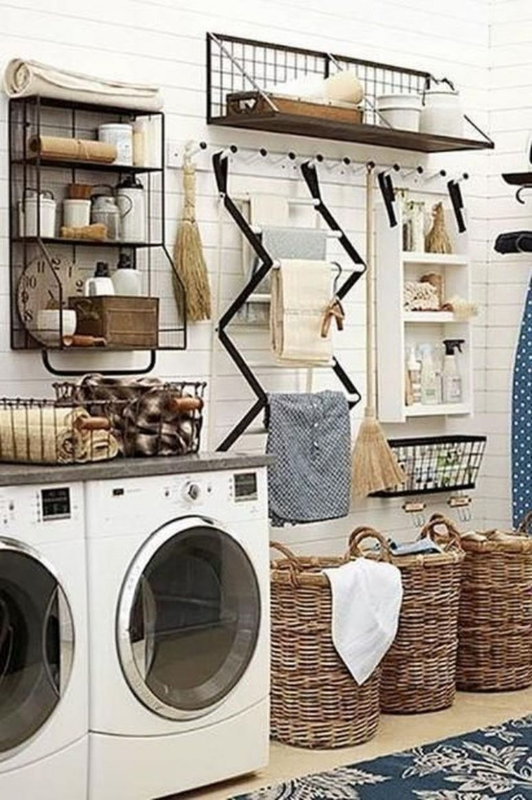 Stunning Rustic Functional Laundry Room Ideas Best For Farmhouse ..