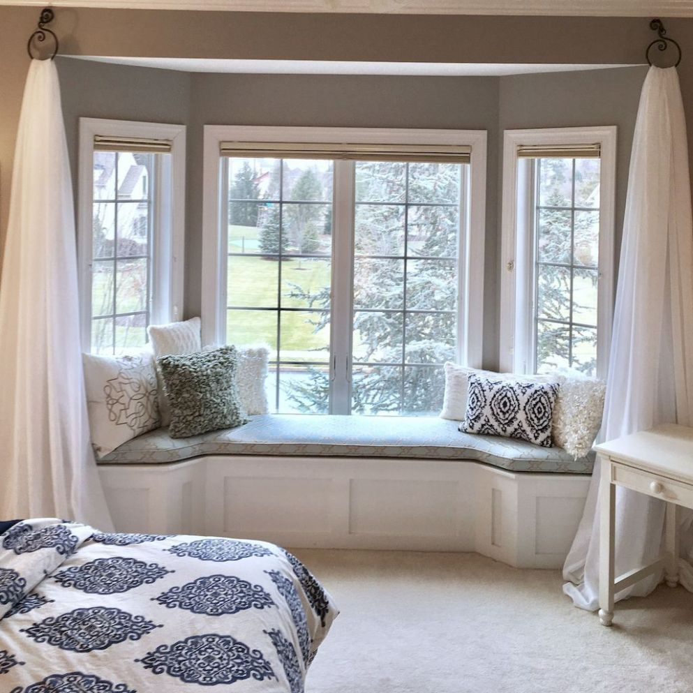 Stunning Window Seat Ideas (With images)   Bedroom window seat ..