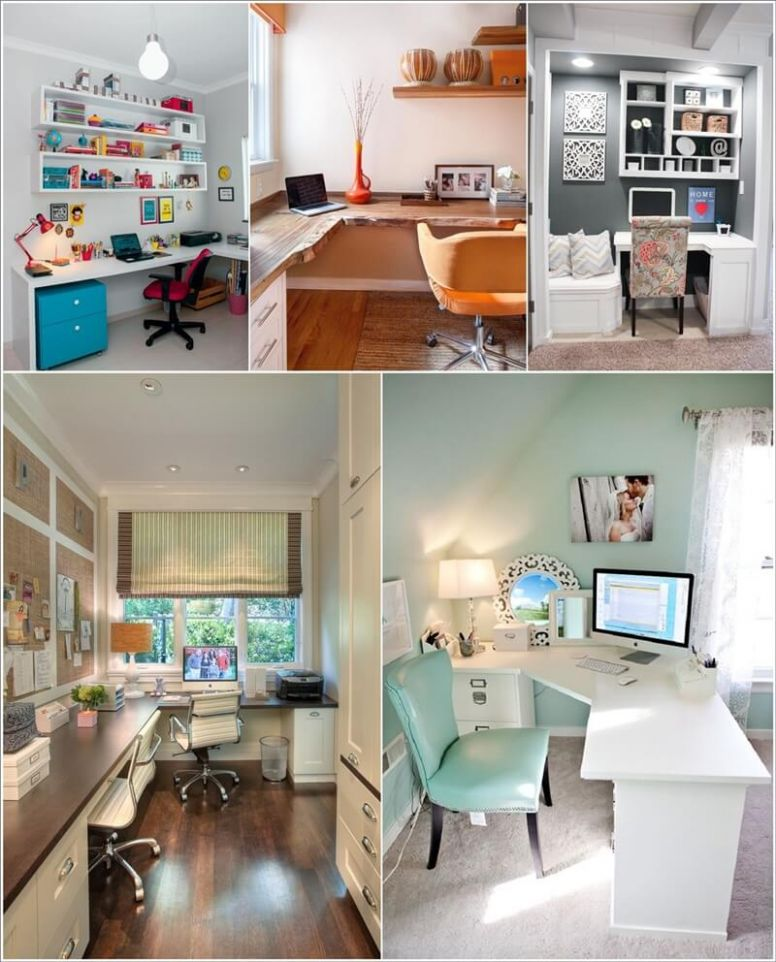 Style Your Home Office with a Corner Desk - home office ideas corner desk