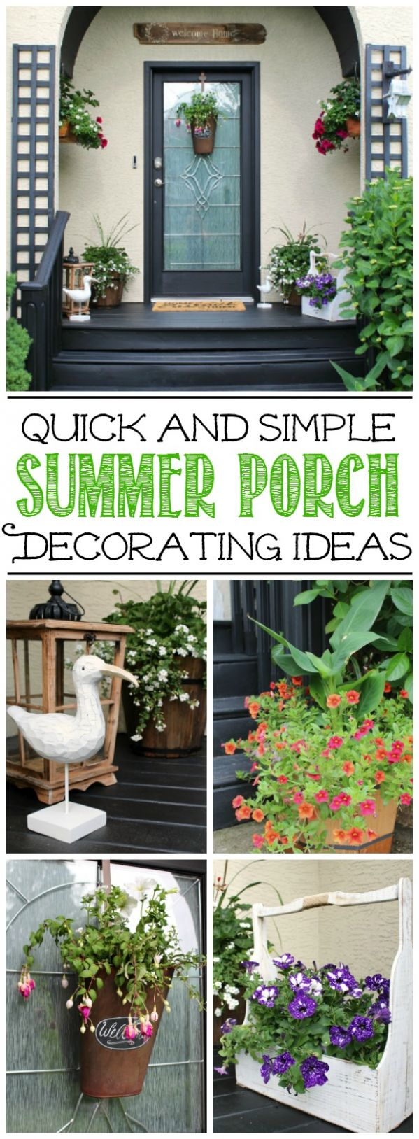 Summer Front Porch Decorating Ideas - Clean and Scentsible - front porch decor ideas for summer