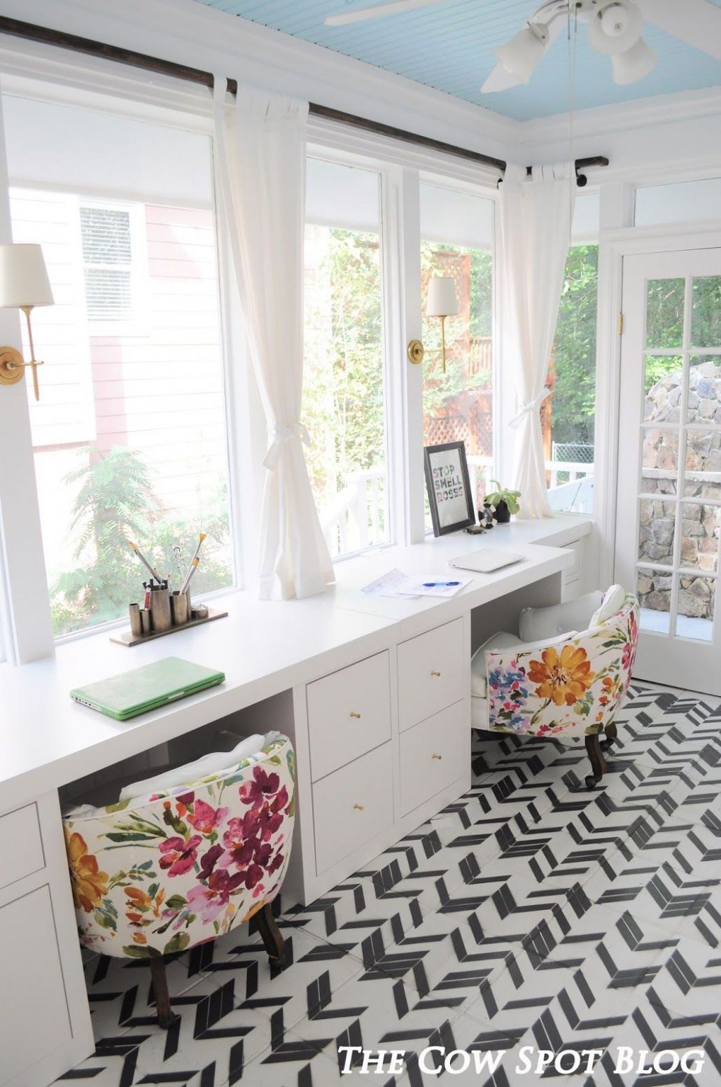 Sunroom Turned Home Office Reveal (With images) | Home office ..