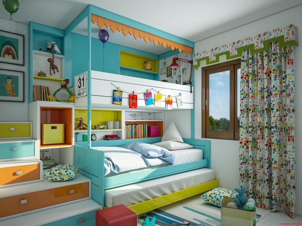 Super-Colorful Bedroom Ideas for Kids and Teens - bedroom ideas kid