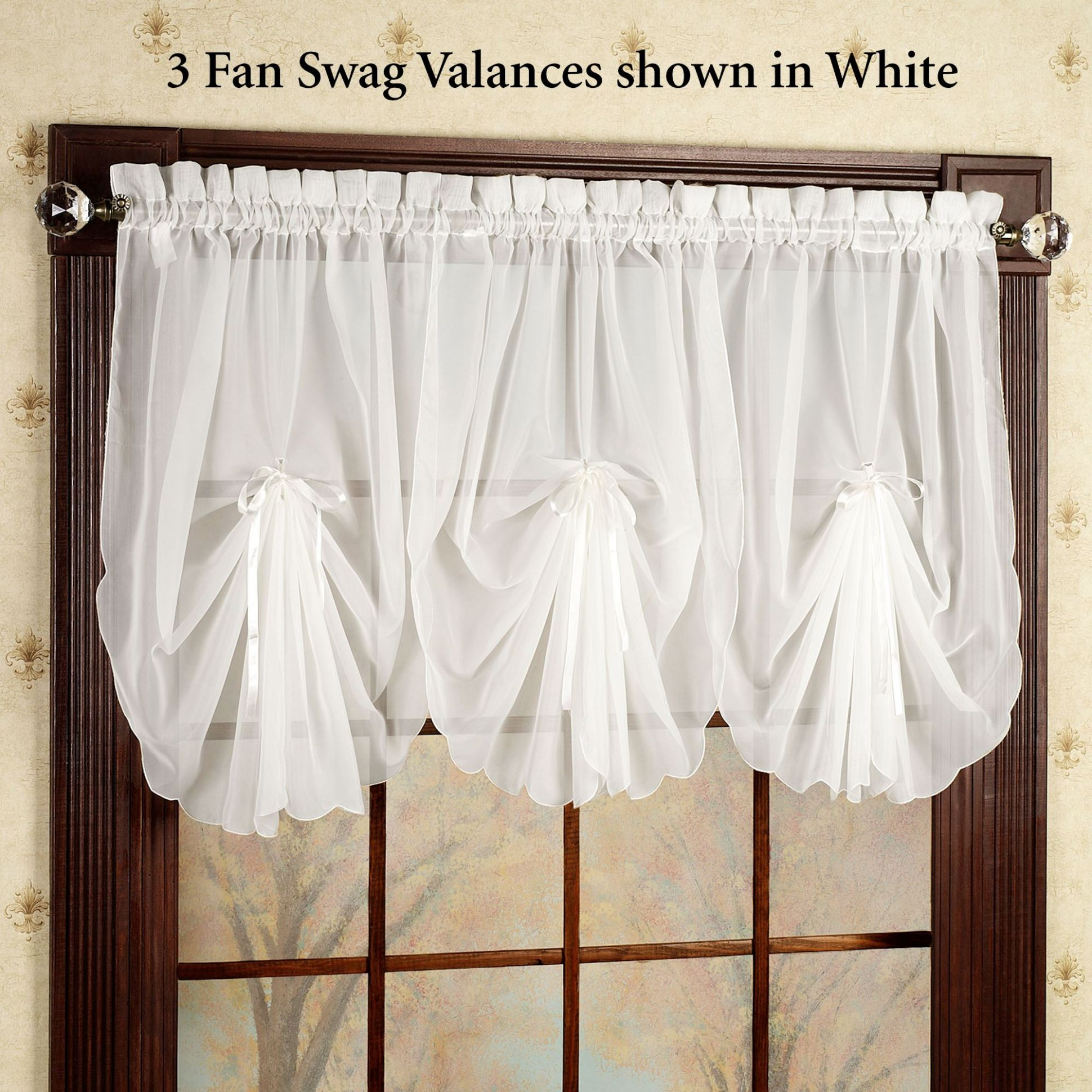 Swag Curtains For Bedroom - The Best Image of Curtain - window valance ideas living room