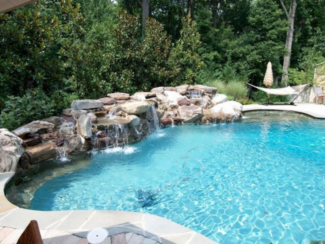 Swimming Pool With Gravel Stone Ideas – DECOOR - pool ideas stone