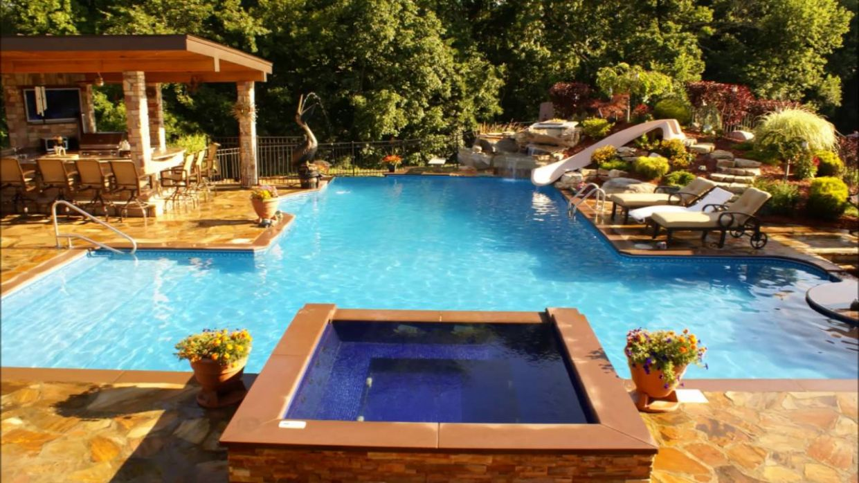 Swimming Pools Design Exotic Pool And Jacuzzi Designs - YouTube - pool jacuzzi ideas