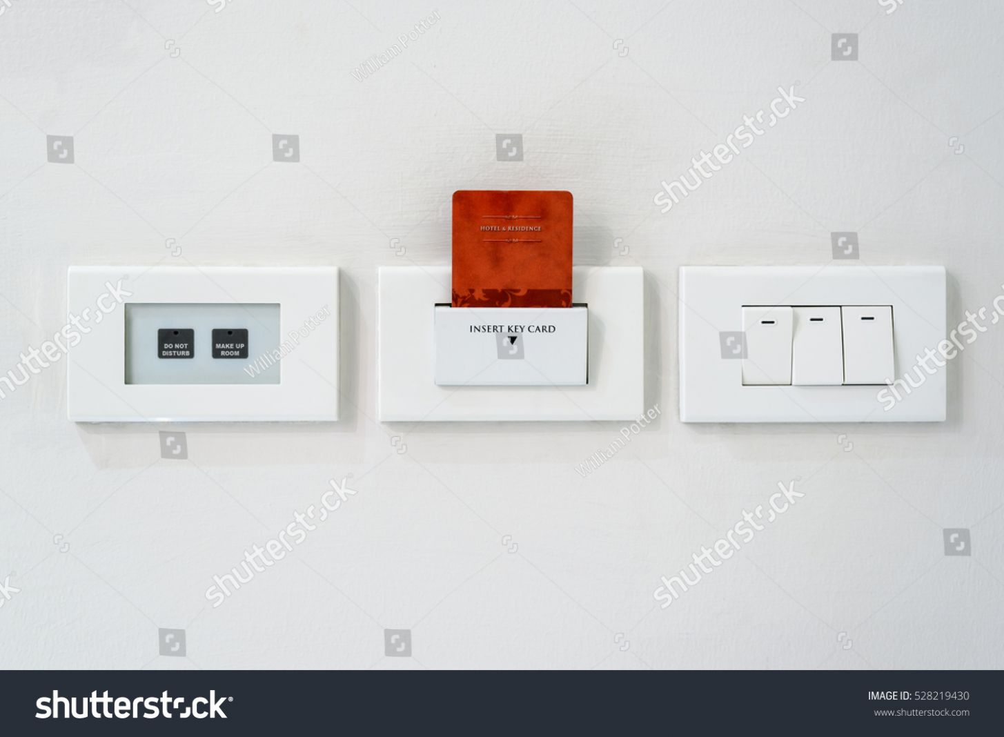 Switches Buttons Slot Inserting Access Card Stock Photo (Edit Now ...