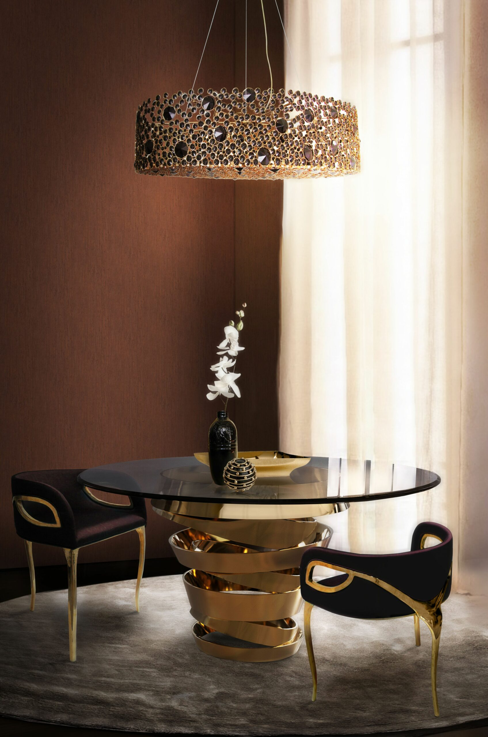 The Best Black and Gold Decorating Ideas for your Dining Room - dining room ideas gold
