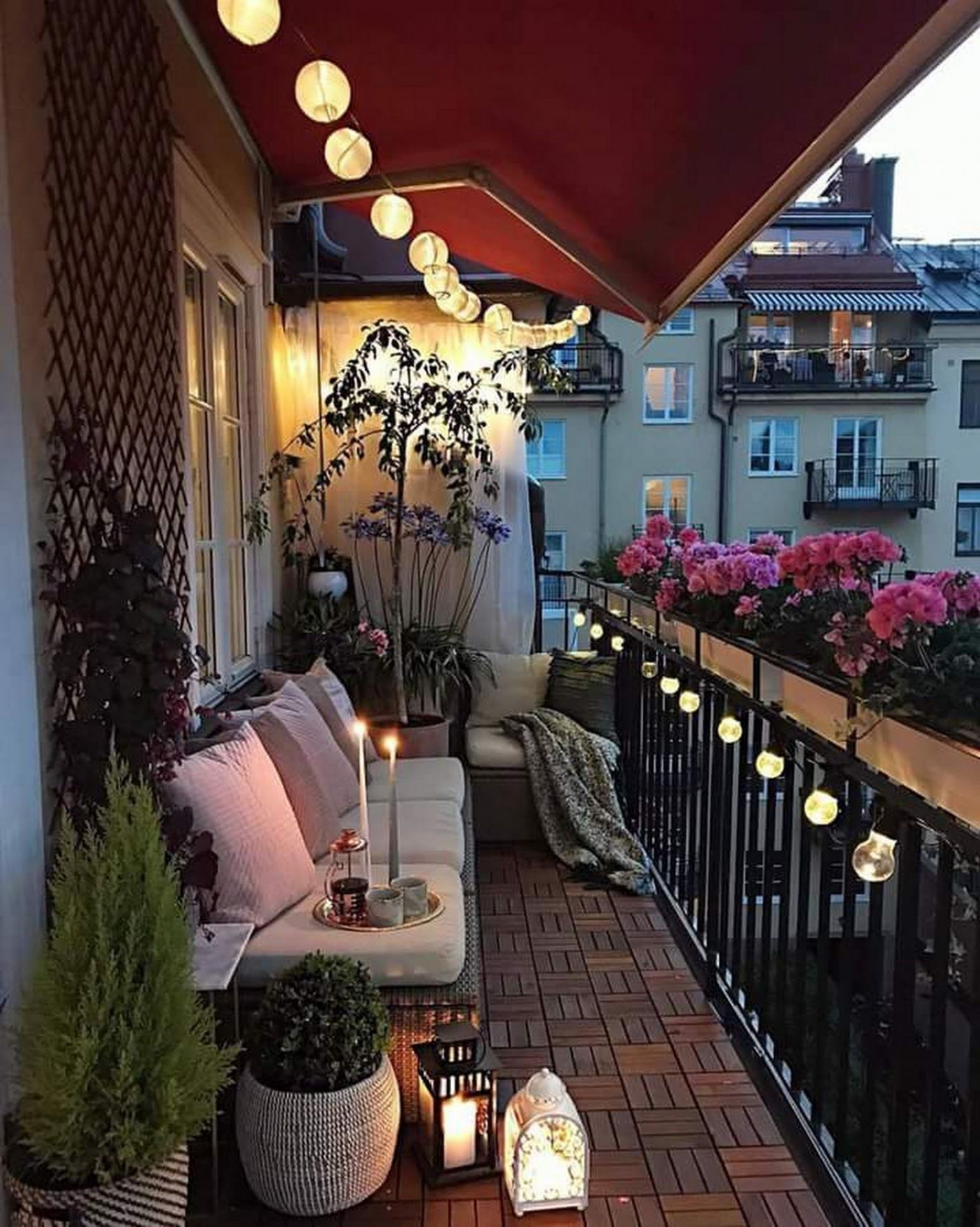 The Best Decorated Small Outdoor Balconies on Pinterest | Balkon ..