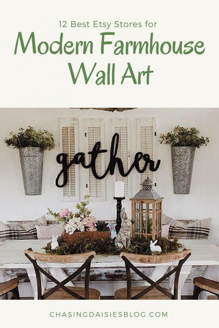 The Best Etsy Stores for Modern Farmhouse Wall Art | Farmhouse ..