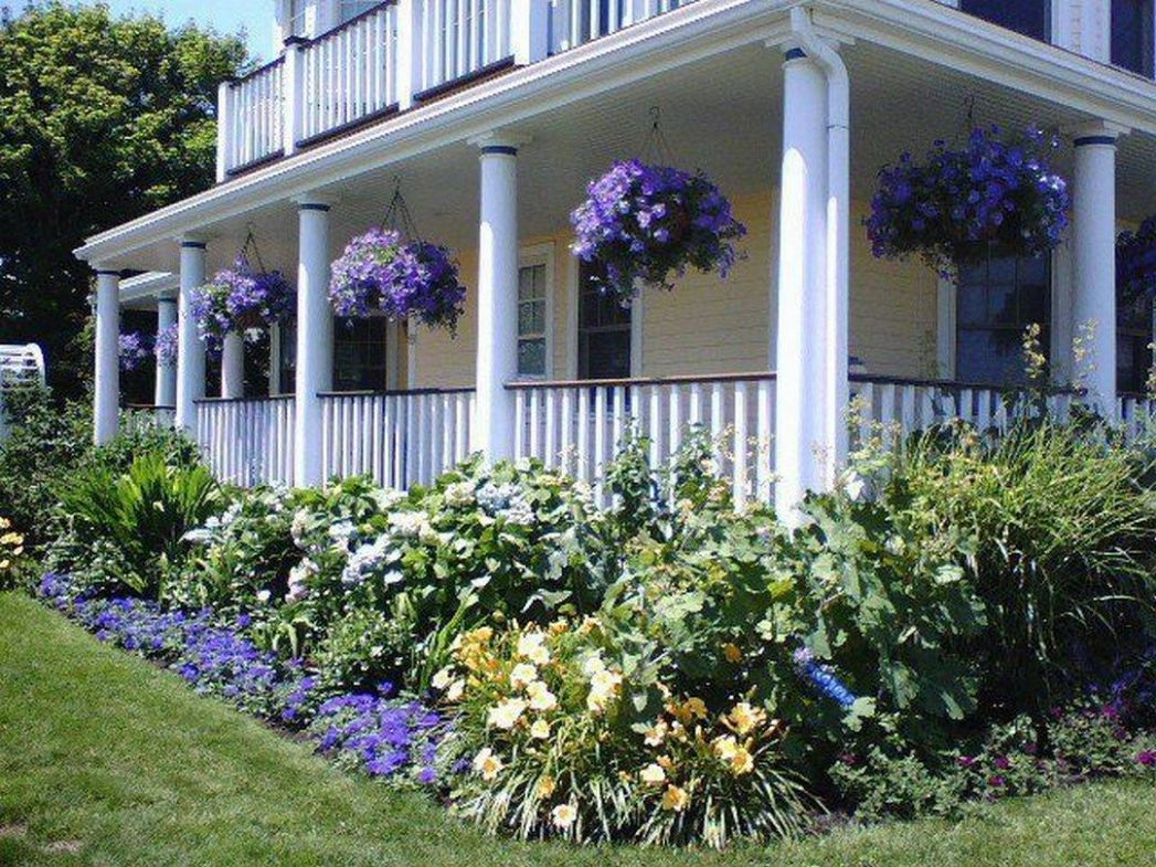 The Chic Technique: Lavender accent landscaping porch and front ..