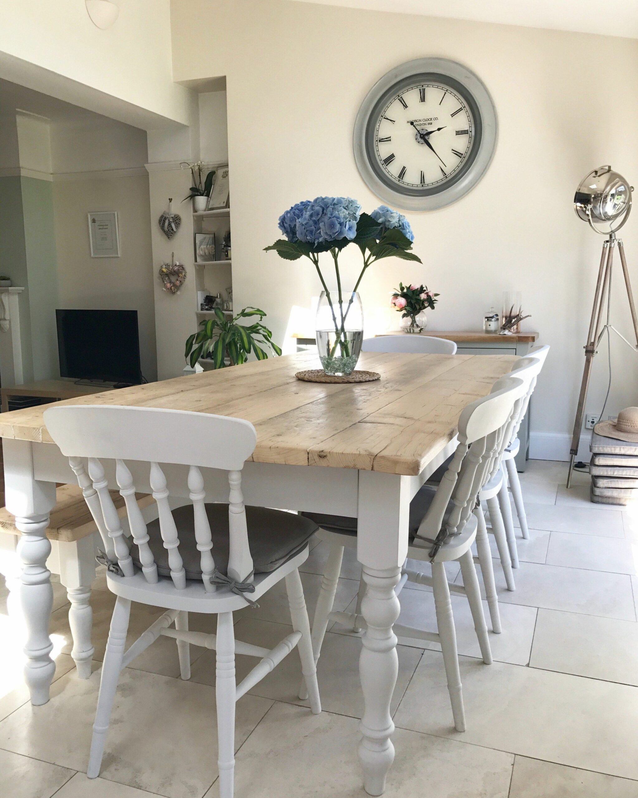 The 'Florence' Reclaimed Farmhouse Table, painted in a colour of ...