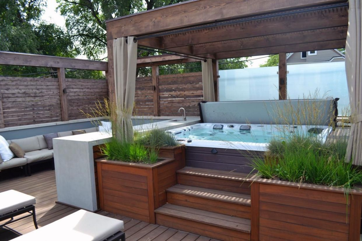 The Great Outdoors: Top 8 Backyard Design Ideas | Hot tub ..