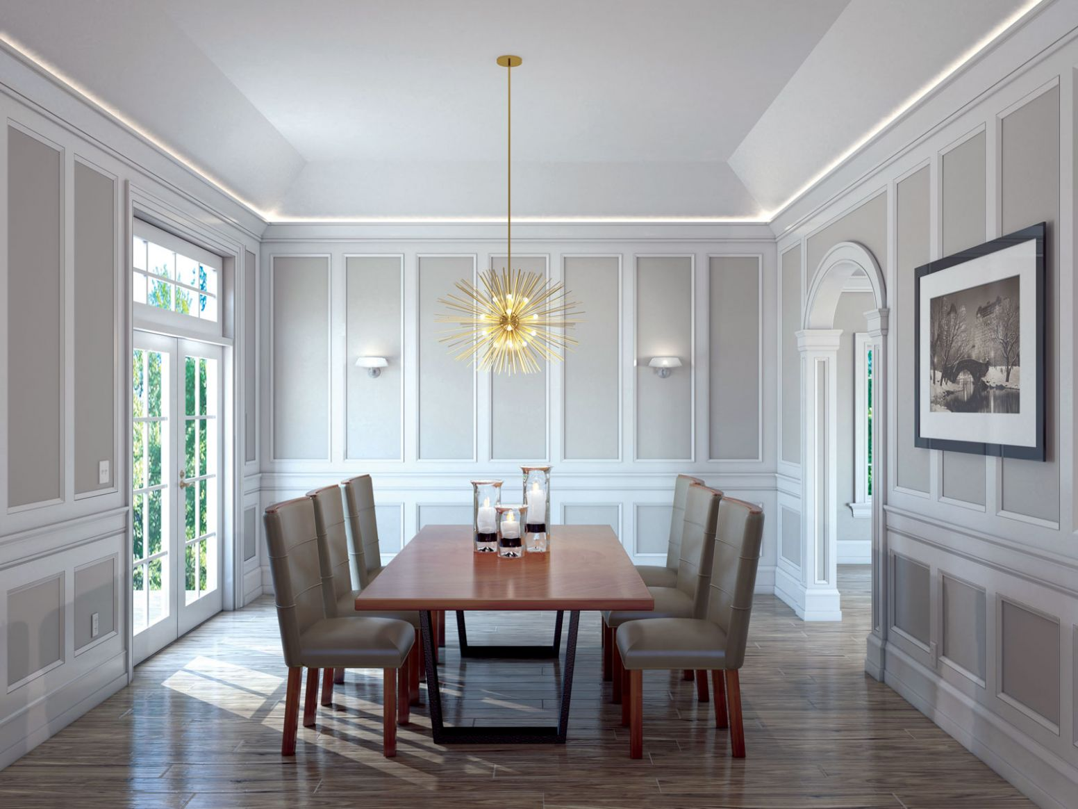 The Kensington - Dining Room - Five Star Millwork - dining room millwork ideas