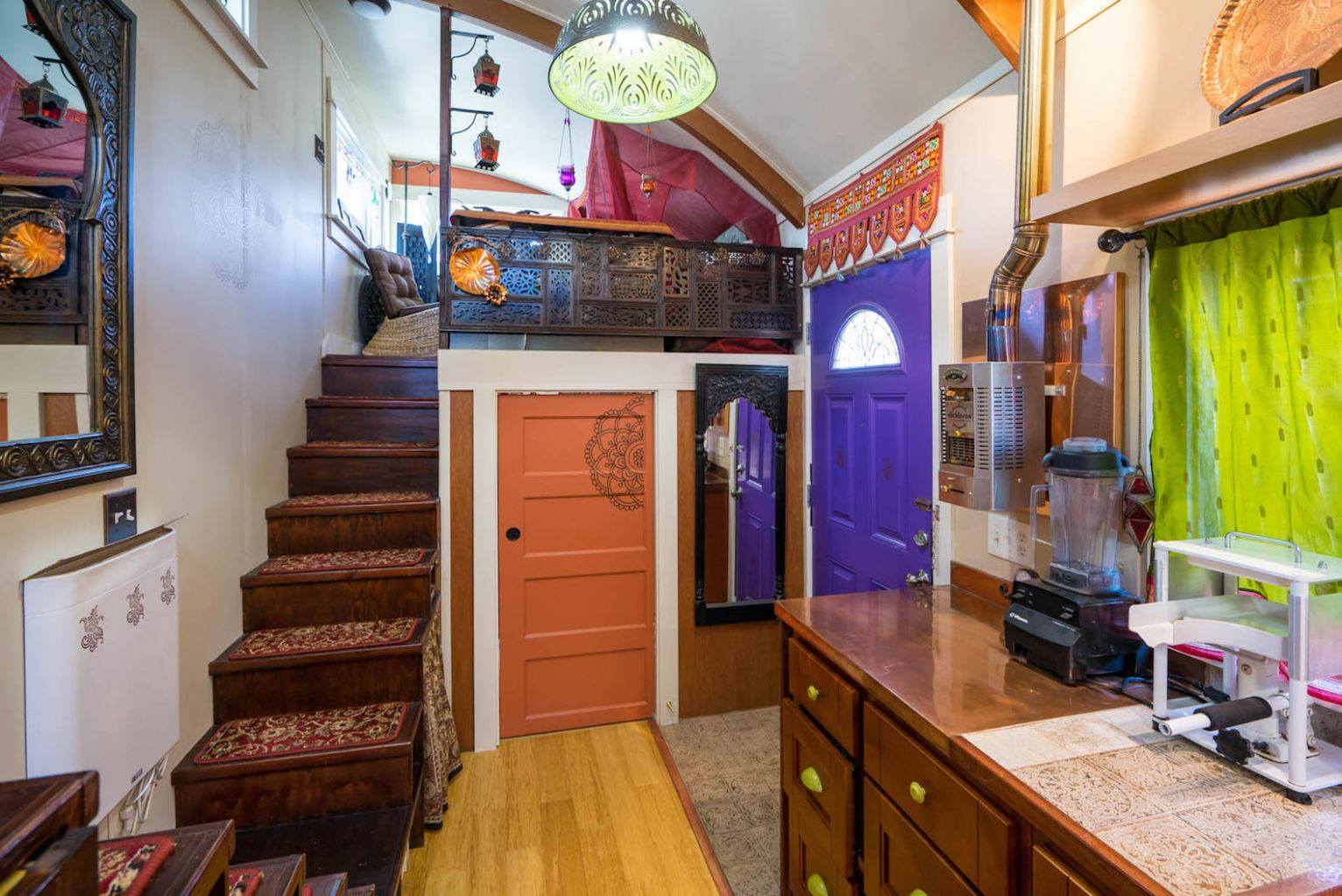 The Lilypad tiny house in Portland features two loft spaces and a ..