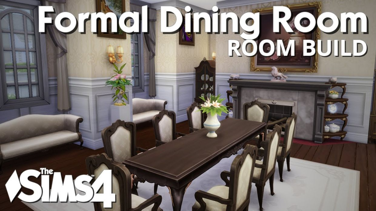 The Sims 10 Room Build - Formal Dining Room - dining room ideas sims 4