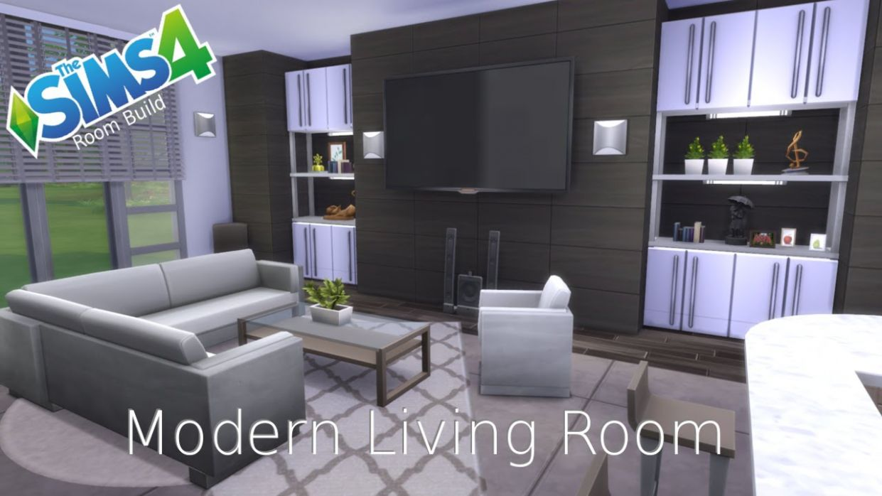 The Sims 10 - Room Build - Modern Living Room - dining room ideas sims 4