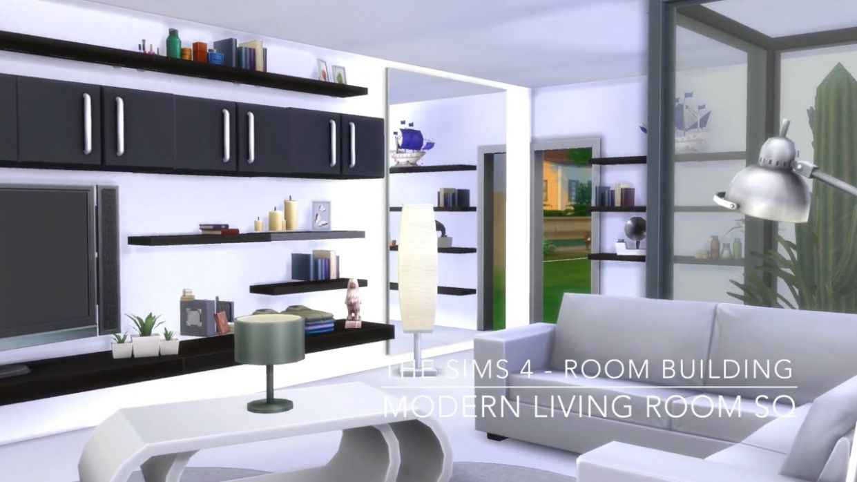 The Sims 10 - Room Building - Modern Living Room SQ - dining room ideas sims 4