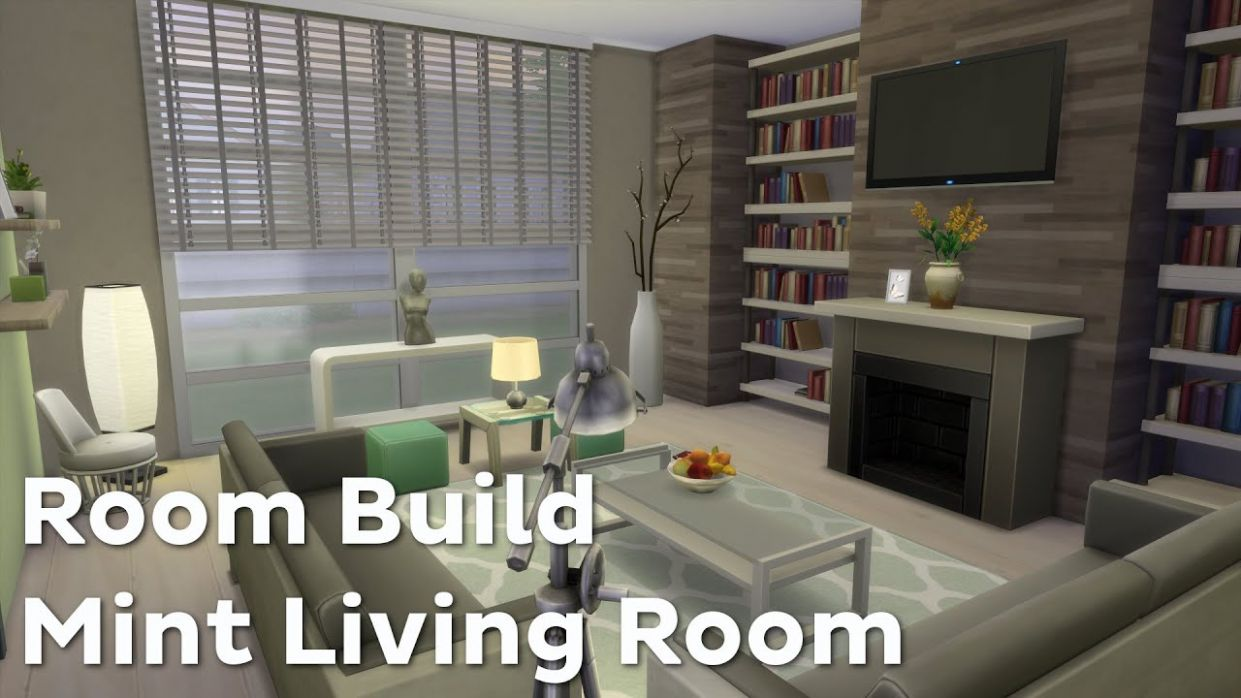 The Sims 9: Room Build - Mint Living Room - living room ideas sims 4