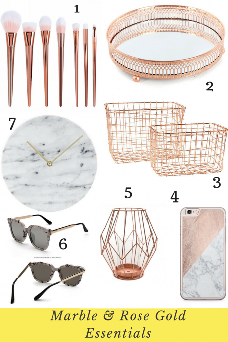 The Top Marble and Rose Gold Ebay Picks (I Heart Cosmetics) | Gold ...
