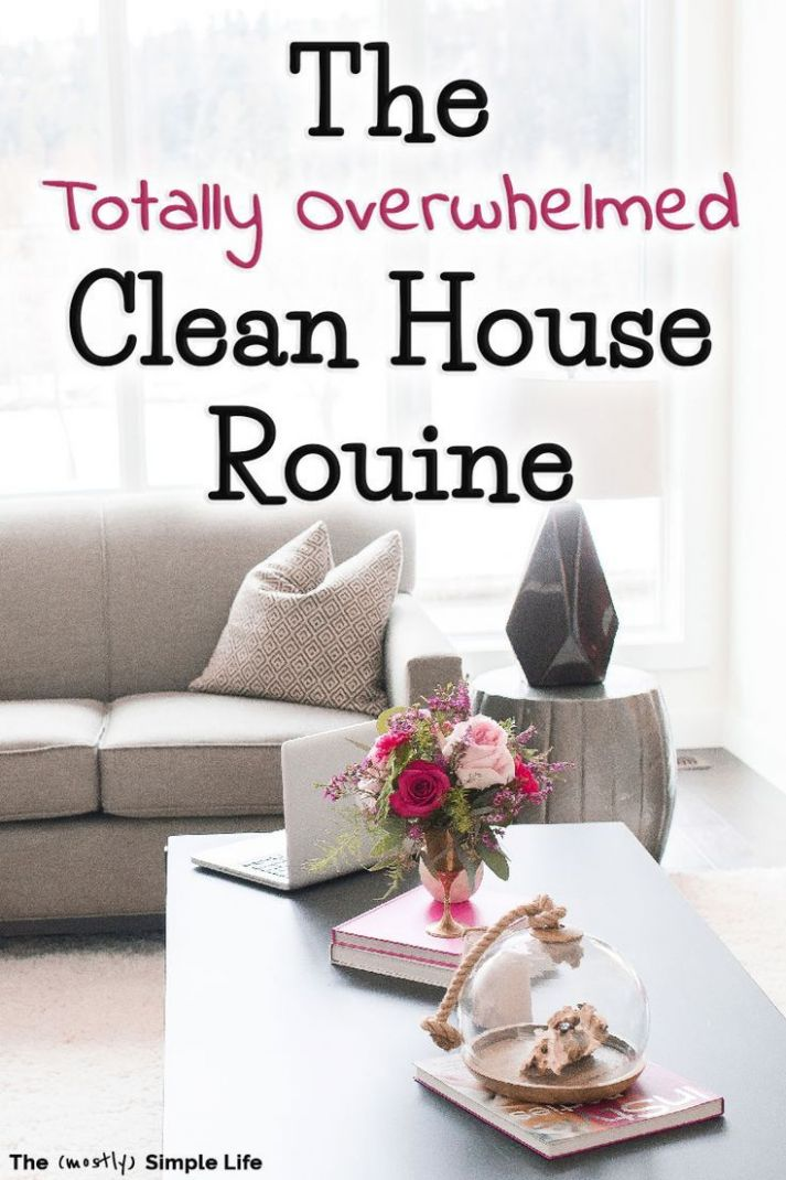 The Totally Overwhelmed Clean House Routine (With images)   Clean ..