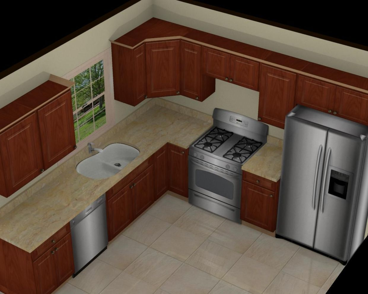 There are many ideas 11×11 kitchen design that you can do to ..