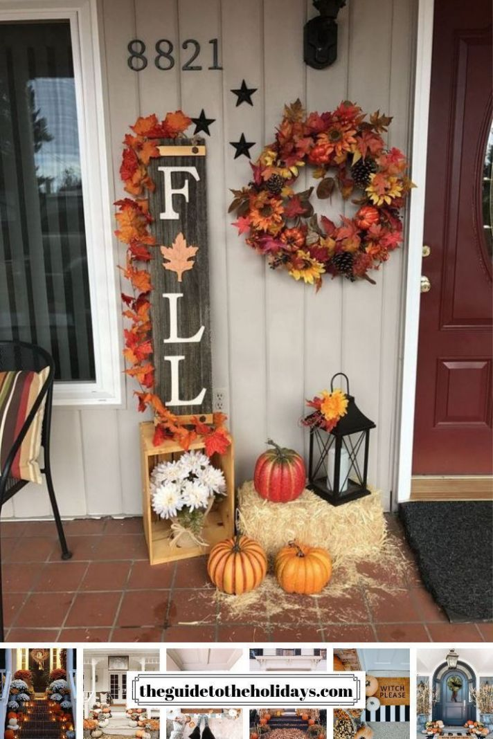 These cute fall porch ideas are guaranteed to look stunning! From ...