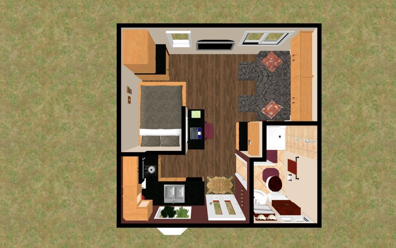 """This 12 sq ft floor plan Im calling the """"Treasure Chest XXL"""" is .."""