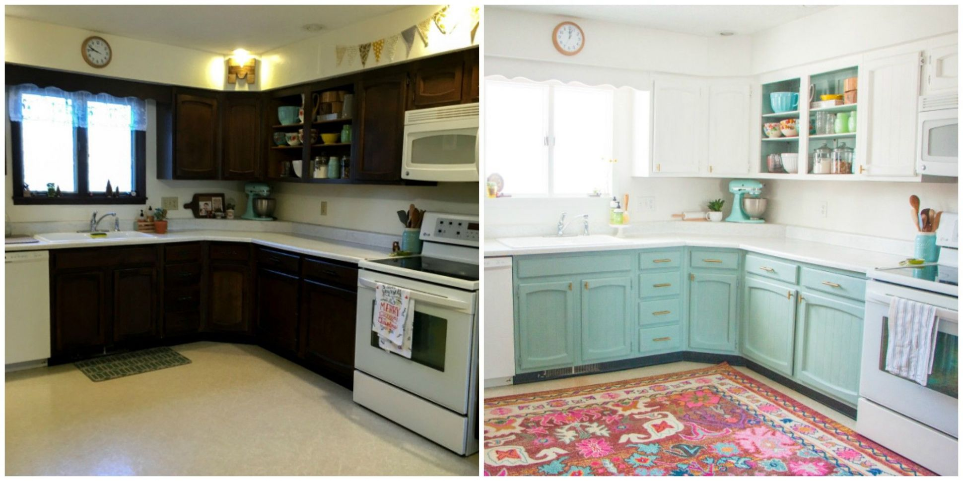 This Bright and Cheery Kitchen Renovation Cost Just $8 - Cheap ...