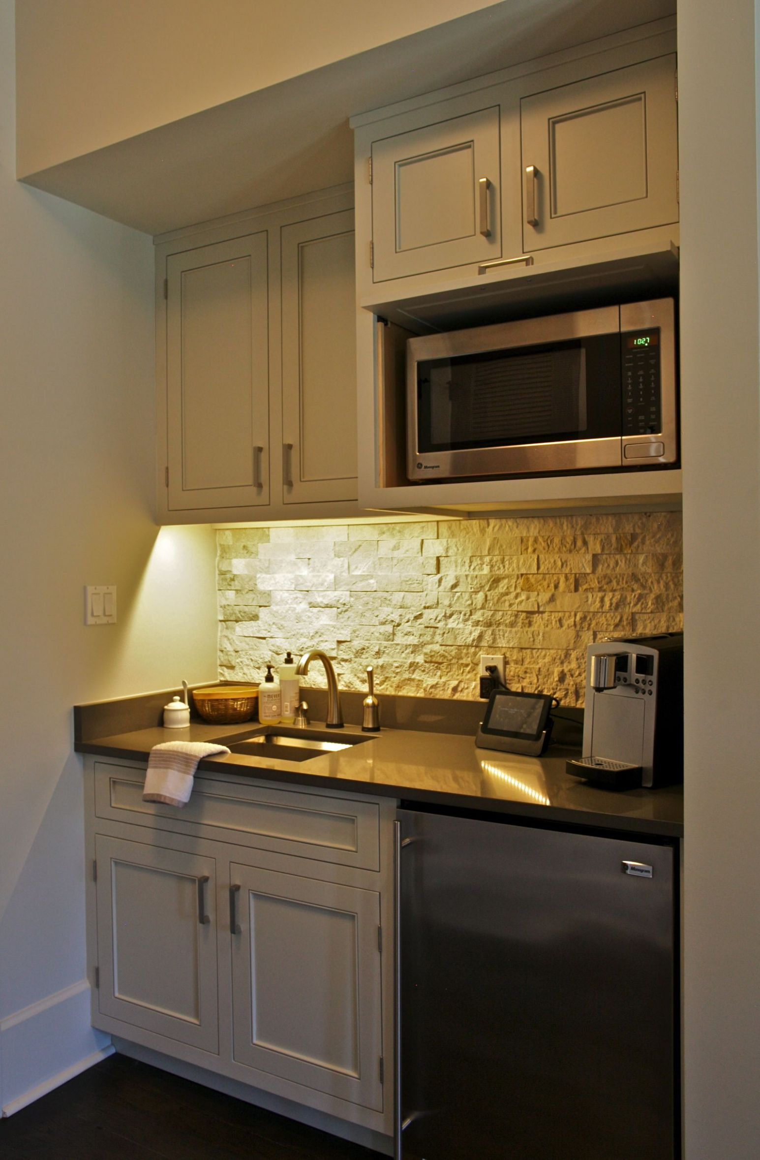 This coffee bar/kitchenette sits in a Master Bedroom for early ...