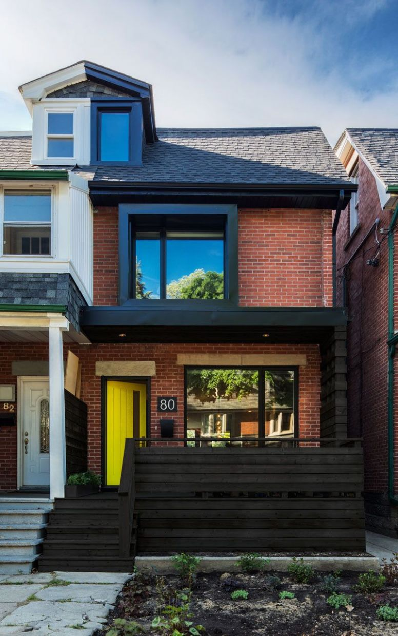 This semi-detached home in Toronto received a contemporary ...