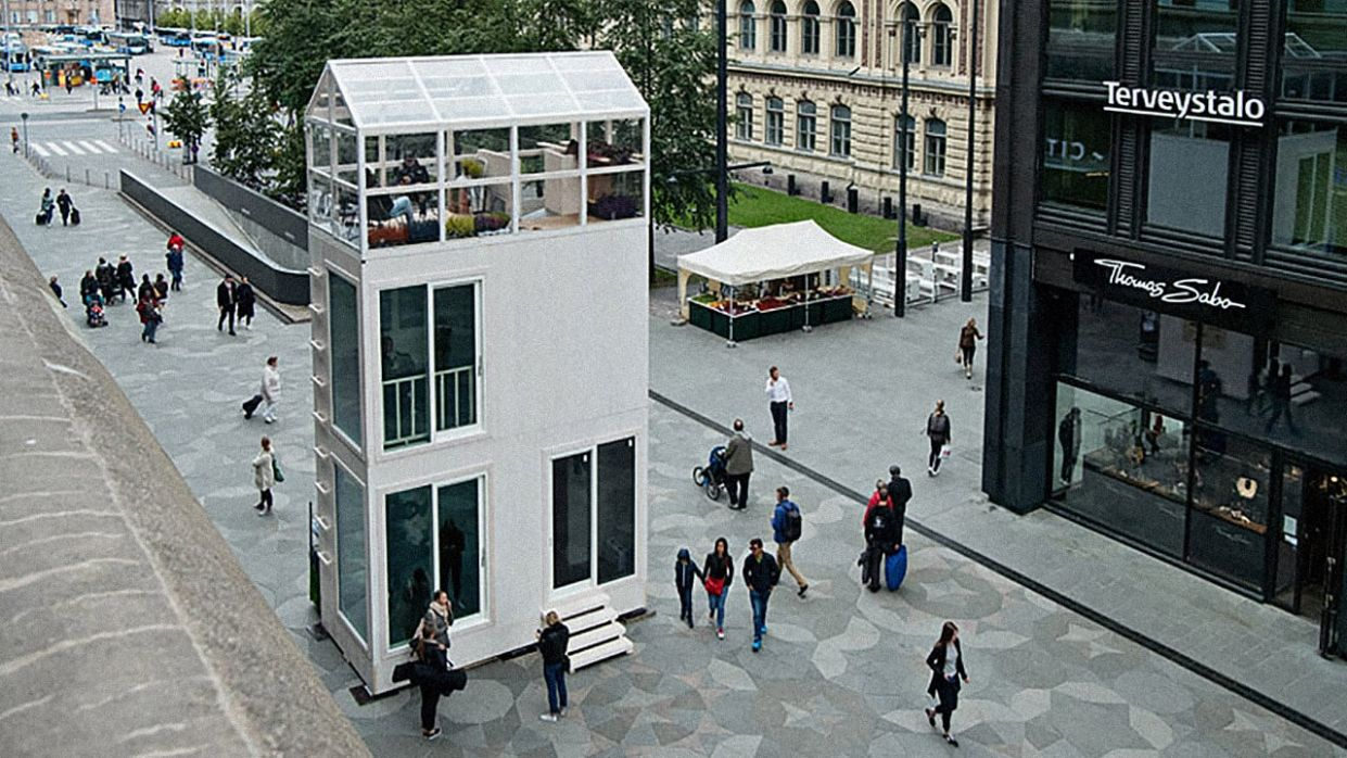 This Three-Story Tiny House Fits In The Footprint Of A Parking Space - tiny house parking