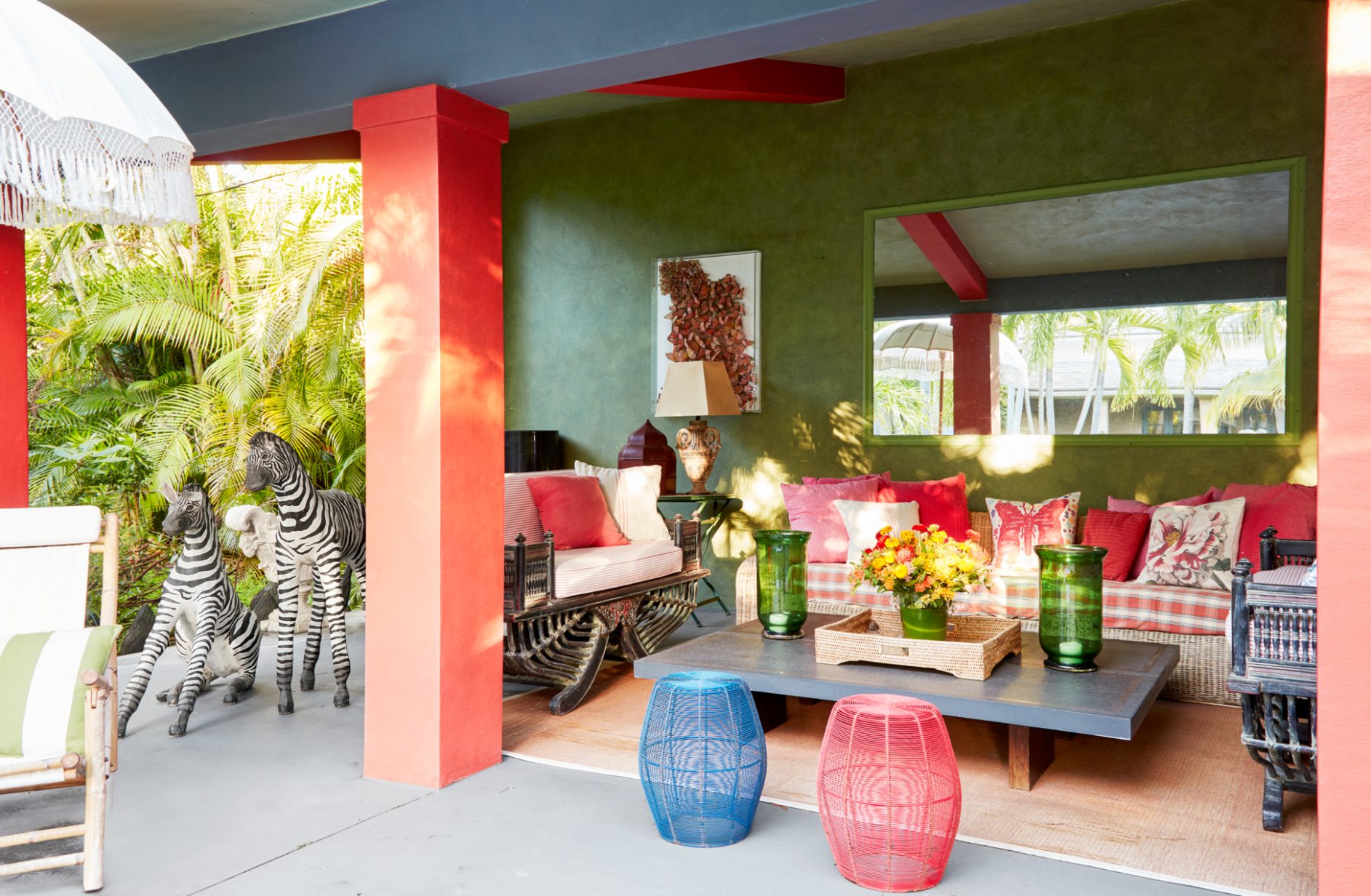 This West Palm Beach Home Mixes Worldly Antiques with Modern Charm