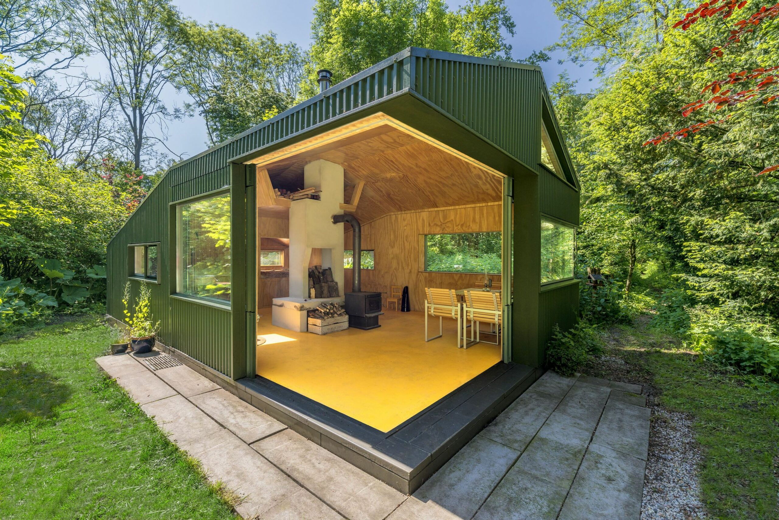 Thoreau's cabin Sited in the 8 acre Noorderpark in Utrecht, the ...