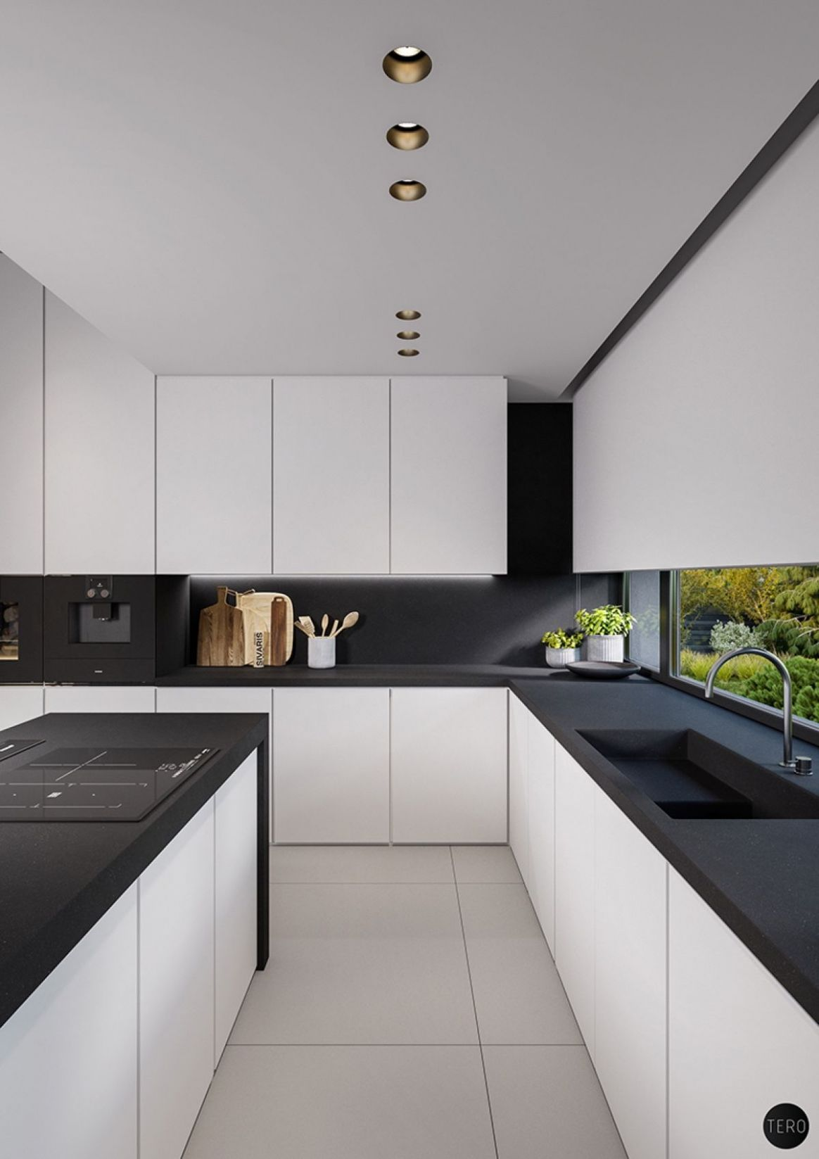Three black and white interiors that ooze class | Diseño cocinas ..