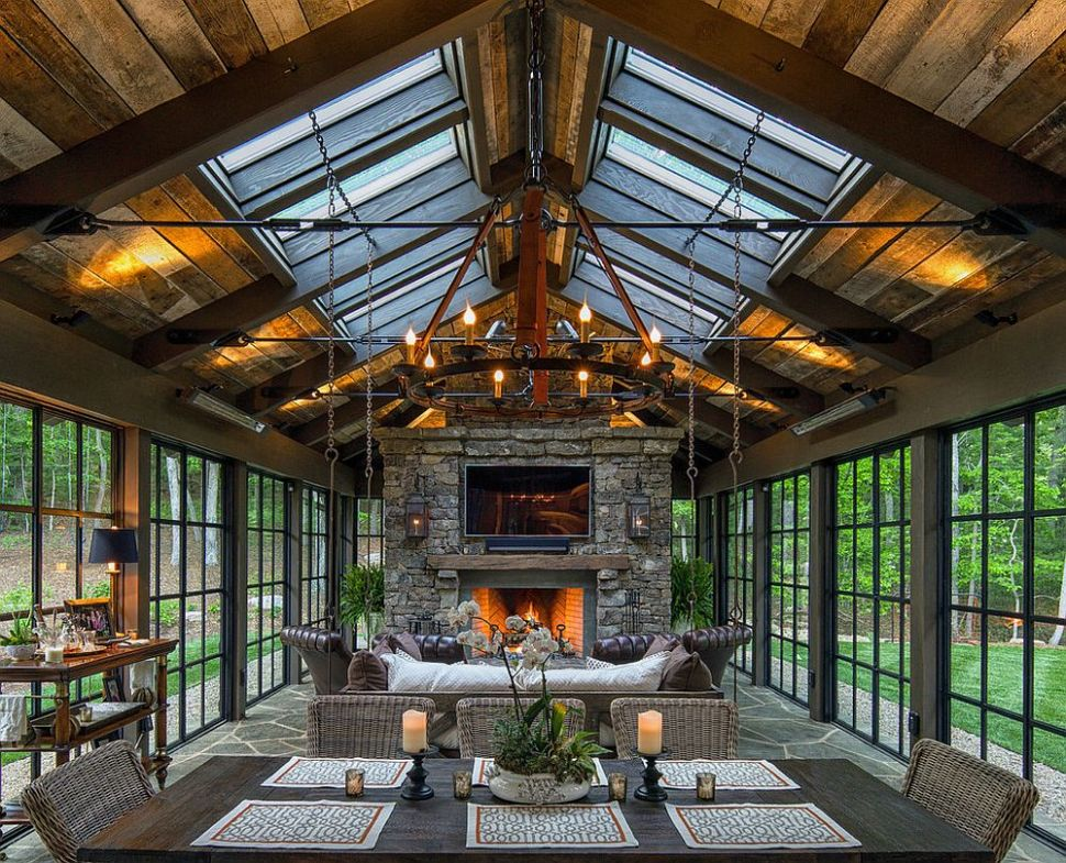 Timeless Allure: 9 Cozy and Creative Rustic Sunrooms - sunroom rustic ideas