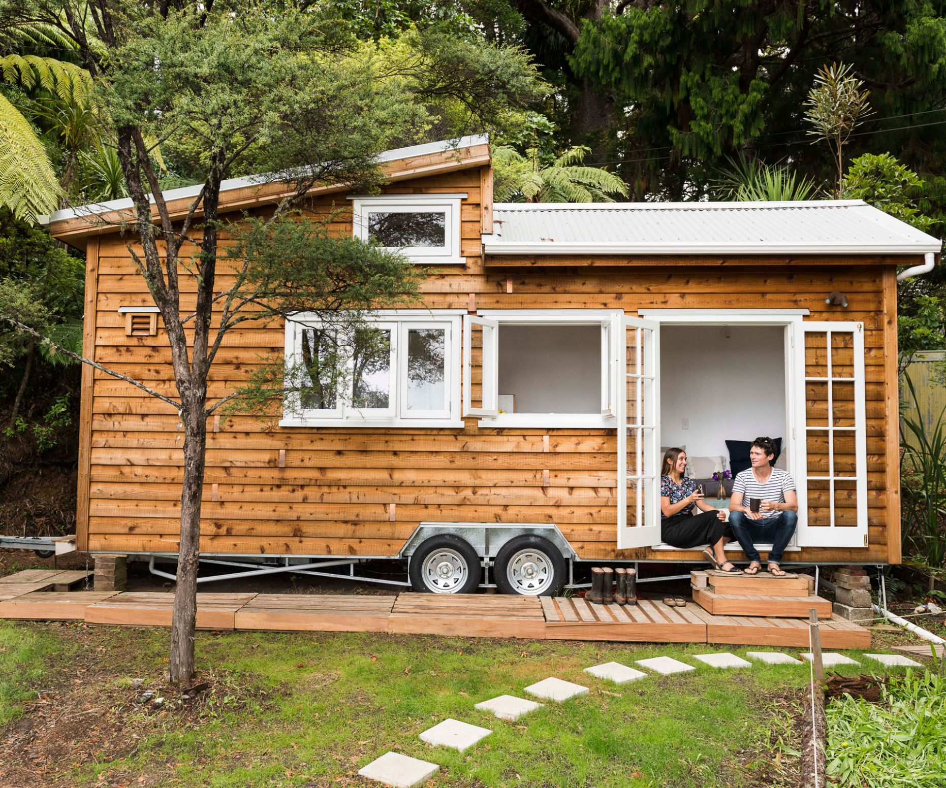 Tiny home on wheels was a DIY dream for this Auckland couple nz
