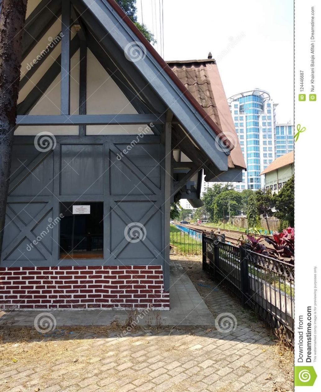 Tiny House On The Railway Station In Bandung Stock Image - Image ..