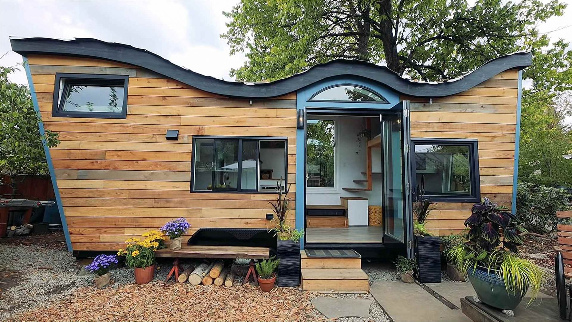 Tiny House with Curved Living Roof in Portland - tiny house portland