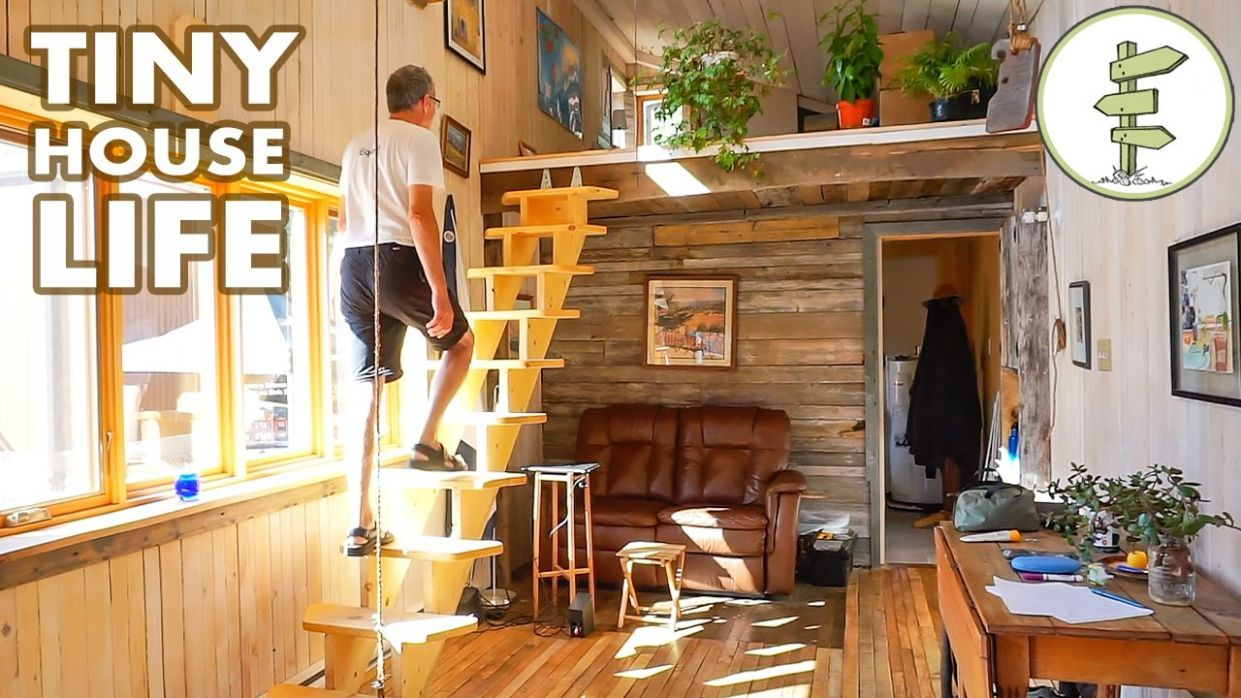Tour a Spacious Open Concept Tiny House Parked in a Legal Community - tiny house quebec for sale