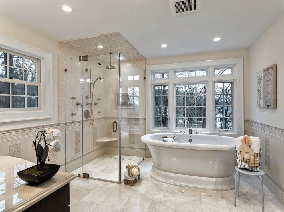 Traditional Bathrooms | Traditional Master Bathroom with frameless ..