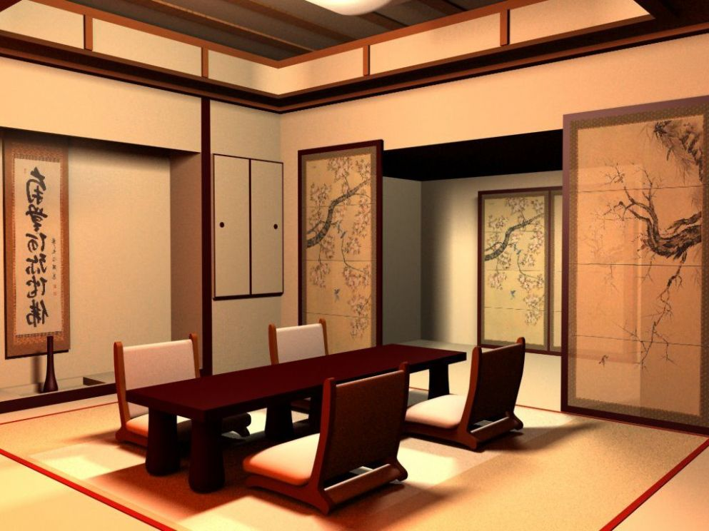 Traditional Japanese Dining Room Furniture | Japanese interior design - japanese dining room ideas